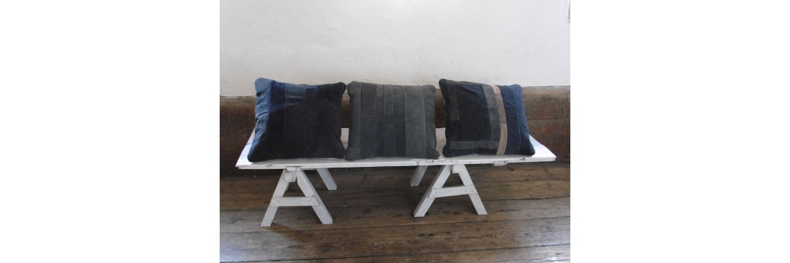 Cushions in blue colours