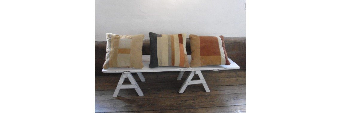 Cushions in brown colours